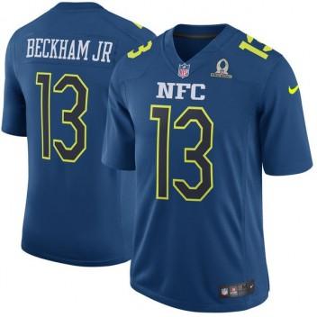 NFC Odell Beckham Jr Nike marino 2017 favorable tazón de fuente juego  Jersey de los hombres 6fb1cd0d3d3