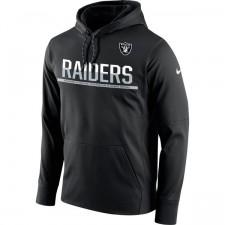 Oakland Raiders Nike Sideline negra circuito Jersey Performance sudadera con capucha de los hombres