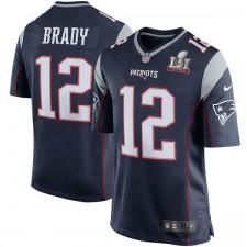 Nueva Inglaterra Patriots Tom Brady Nike marino Super Bowl LI de los hombres límite juego Jersey