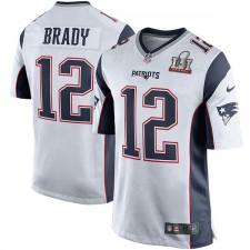 Nueva Inglaterra Patriots Tom Brady Nike blanco Super Bowl LI de hombres límite juego Jersey