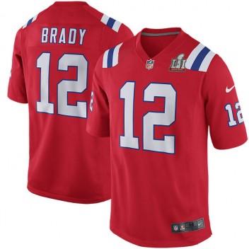 Nueva Inglaterra Patriots Tom Brady Nike rojo Super Bowl LI de hombres  límite juego Jersey f78d4abe7