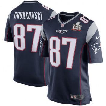 Patriotas de Nueva Inglaterra de los hombres roban Gronkowski Nike azul  marino Super Bowl limite LI 4d5c8847986