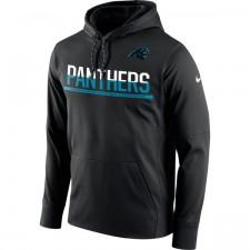 Carolina Panthers Nike Sideline negra circuito Jersey rendimiento sudadera con capucha hombres