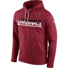 Arizona cardenales Nike cardenal Sideline circuito Jersey Performance sudadera con capucha de los hombres