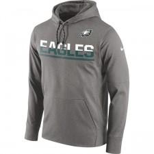 Águilas de Philadelphia de los hombres Nike Sideline gris circuito Jersey Performance con capucha