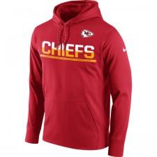 Kansas City jefes Nike Sideline rojo circuito Jersey rendimiento sudadera con capucha de los hombres