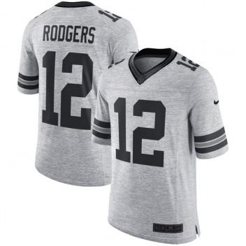 Hombres Green Bay Packers Aaron Rodgers Nike gris parrilla gris II limitada  Camiseta 04759df48