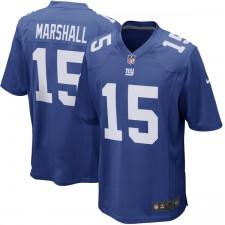 Jóvenes de Nueva York gigantes Brandon Marshall Nike Royal Juego Camiseta
