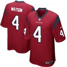 Hombres Houston Texans DeShaun Watson Nike rojo 2017 draft juego de selección de camisetas