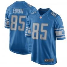 Los hombres de Detroit leones Eric Ebron Nike azul 2017 juego de Camiseta