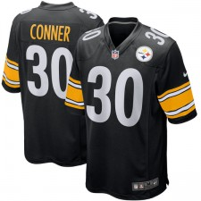 Hombres Pittsburgh Steelers James Conner Nike negro 2017 draft juego de selección de camisetas