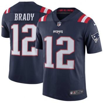 Hombres de Nueva Inglaterra patriotas Tom Brady Nike Marina color Rush  limitada Camiseta 2df4f997ed0