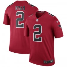 Los hombres de Atlanta halcones Matt Ryan Nike color rojo Rush Legend Camiseta