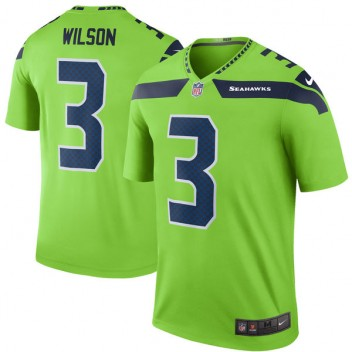 Hombres Seattle Seahawks Russell Wilson Nike neón verde vapor intocable color  Rush Limited Player camiseta 42ed4e09508