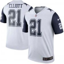 Los hombres de Dallas vaqueros Ezequiel Elliott Nike color blanco Rush Legend camiseta