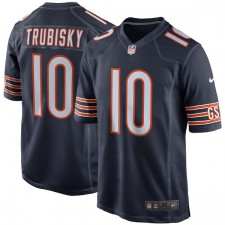 Los hombres de Chicago osos Mitchell Trubisky Nike Navy 2017 proyecto de selección de juego de Camiseta