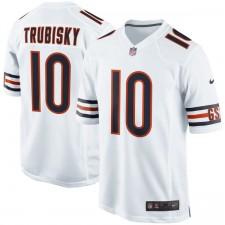 Los hombres de Chicago osos Mitchell Trubisky Nike Blanco Juego Camiseta