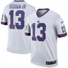 Los hombres de Nueva York gigantes Odell Beckham Jr Nike color blanco Rush Legend camiseta