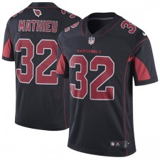 Los hombres de Arizona cardinales tiranía Mathieu Nike negro vapor intocable color Rush Limitada Player camiseta