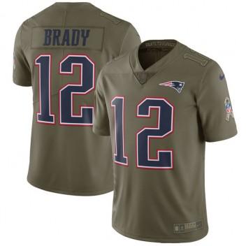 Hierbas corazón perdido Prosperar  Patriotas de Nueva Inglaterra de los hombres Tom Brady Nike Olive saludo a  la Jersey de servicio limitada - Camisetas NFL Tienda - Tienda de camisetas  oficiales de la NFL Online
