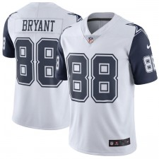 Hombres Dallas Cowboys dez Bryant nike vapor blanco jugador intocable color Rush Limited Camiseta