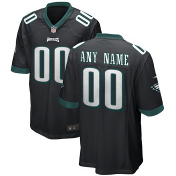 Hombres Philadelphia Eagles Nike negro suplente réplica personalizada juego  Camiseta db1f6e089f9