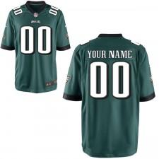 Hombres Philadelphia Eagles Nike Midnight Green juego personalizado Camiseta