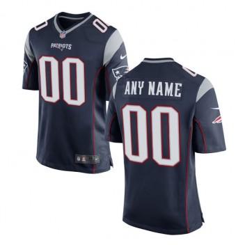 Los hombres de Nueva Inglaterra patriotas Nike Navy juego personalizado camiseta
