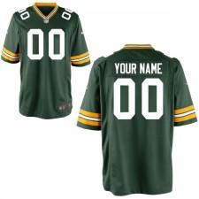 Los hombres de Green Bay Packers Nike verde personalizado juego Camiseta