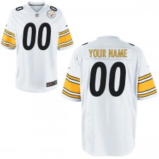 Hombres de Nike Pittsburgh Steelers juego personalizado blanco Camiseta