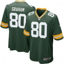 Los hombres de Green Bay Packers Jimmy Graham Nike verde juego Camiseta