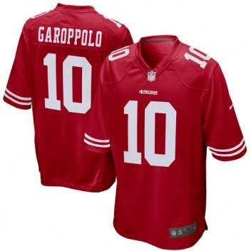 Hombres San Francisco 49ers Jimmy Garoppolo Nike Scarlet juego Camiseta