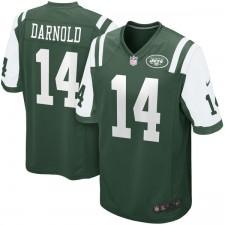 Los hombres de Nueva York jets Sam Darnold Nike Verde 2018 NFL Proyecto primera ronda Pick Juego Camiseta