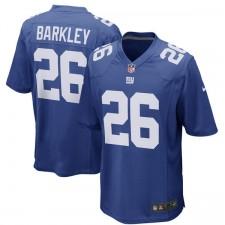 Los hombres de New York Giants Saquon Barkley Nike Royal 2018 NFL Proyecto primera ronda de selección de juego Camiseta
