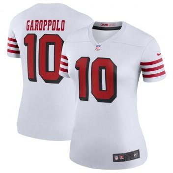 Mujeres San Francisco 49ers Jimmy Garoppolo Nike blanco color Rush Leyenda Jugador Camiseta