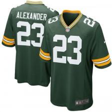 Los hombres de Green Bay Packer Jaire Alexander Nike verde 2018 NFL Proyecto primera ronda de selección de juego Camiseta