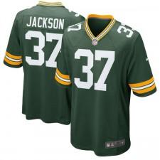 Los hombres de Green Bay Packers Josh Jackson Nike negro 2018 NFL Proyecto juego de selección Camiseta