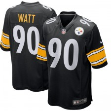 Hombres Pittsburgh Steelers T.J. Watt Nike Negro Juego Camiseta