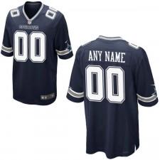 Hombres Dallas Cowboys Nike Navy personalizado juego Camiseta