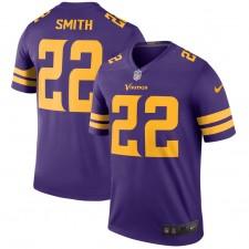 Hombres Minnesota Vikingos Harrison Smith Nike púrpura color Rush Leyenda Camiseta