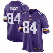 Hombres Minnesota Vikingos Randy Moss Nike Púrpura jugador retirada juego camiseta