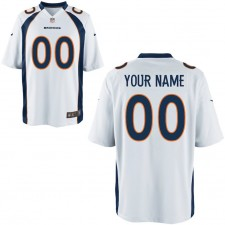 Hombres Nike Denver Broncos juego personalizado blanco camiseta