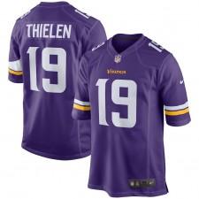 Jóvenes Minnesota Vikingos Adam Thielen Nike púrpura juego Camiseta