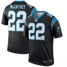 Hombres Carolina panteras Christian McCaffrey Nike negro leyenda Camiseta