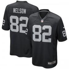 Los hombres de Oakland Raiders Jordy Nelson Nike negro juego Camiseta