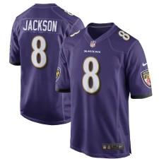 Hombres Baltimore Ravens Lamar Jackson Nike púrpura 2018 NFL Proyecto primera ronda Elegir 2 juego Camiseta