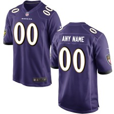 Hombres Baltimore Ravens Nike púrpura Personalizado Juego Camiseta