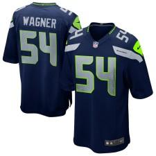 Hombres Seattle Seahawks Bobby Wagner Nike Universidad Navy juego Camiseta