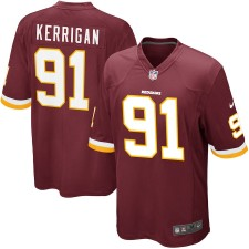Hombres Washington pieles rojas Ryan Kerrigan Nike Borgoña juego Camiseta