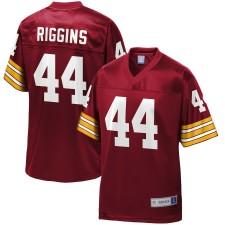 Los hombres pieles rojas de Washington John Riggins NFL Pro línea granate retirado jugador del equipo Camiseta